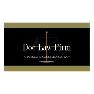 Law Firm Gold/Black Banner Business Card Templates