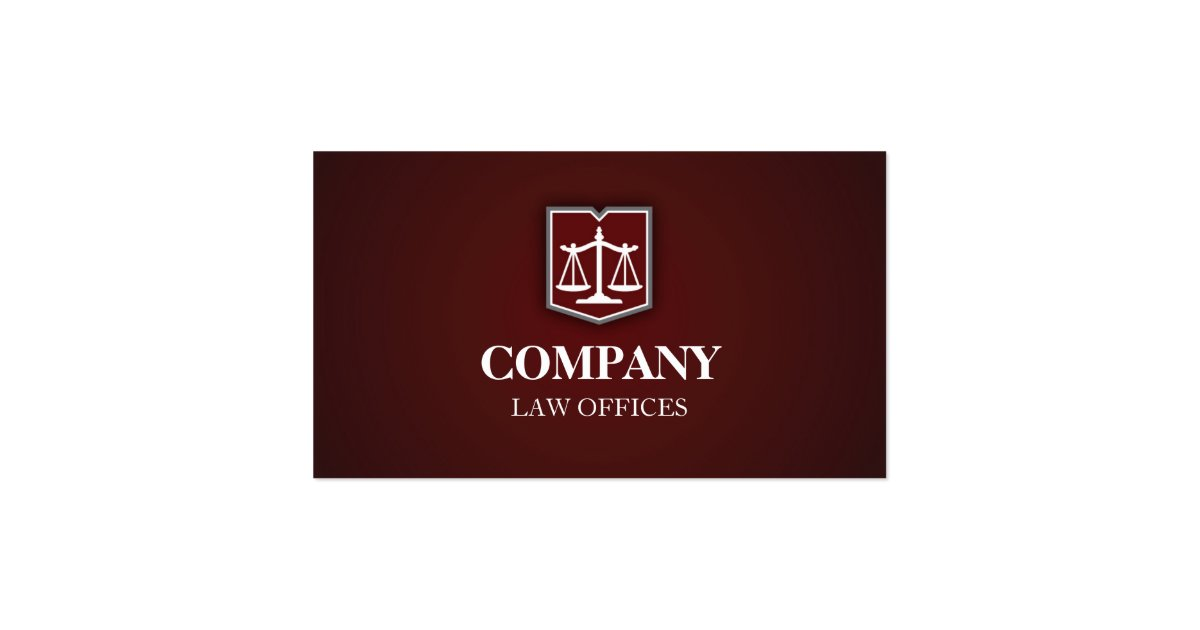 Law firm professional business card zazzle for Firm company