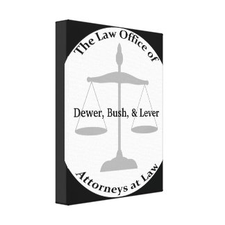 Law Firm Puns Canvas Print