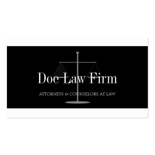 Law Firm W/B Silver Business Card Template