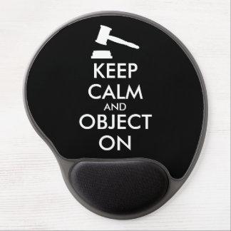 Law Gavel Gel Mousepad Custom Keep Calm Saying