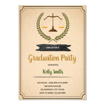 Law graduate party invitation