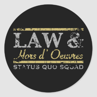 Law & Hors d' Oeuvres Classic Round Sticker