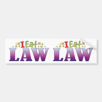 Law I Eat Car Bumper Sticker