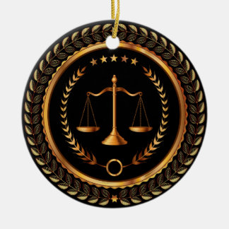 Law, Lawyer, Scales of Justice - SRF Ceramic Ornament