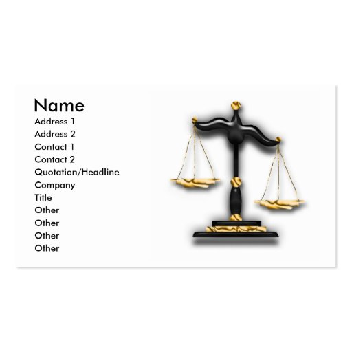 Law - Legal Business Card