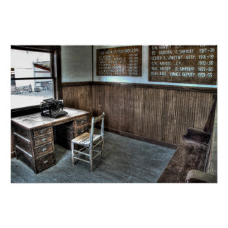 Law Man's Office - Molson Ghost Town Print