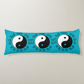 Law of Attraction - Blue Yin Yang Body Pillow