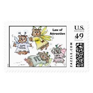 Law of Attraction Cartoon Custom Postage Stamps