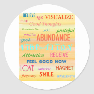"""LAW OF ATTRACTION"" CLASSIC ROUND STICKER"