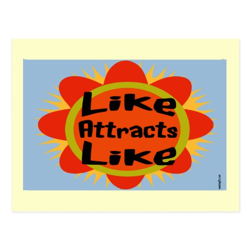 Law of Attraction Flower Postcard