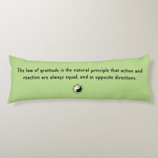 Law of Attraction Green Yin Yang Body Pillow