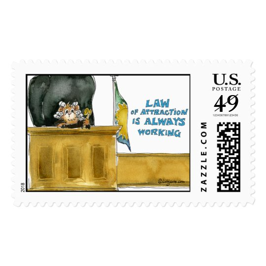 Law Of Attraction Large Postage Stamp
