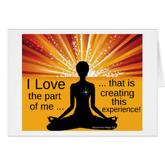 Law of Attraction Motivational Greeting Card