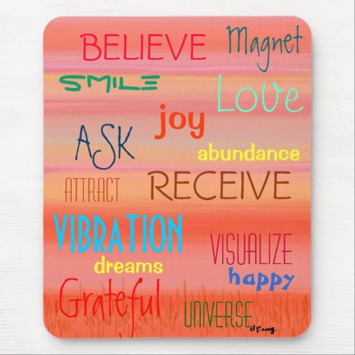 """""""LAW OF ATTRACTION"""" MOUSE PAD"""