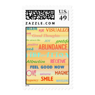 """LAW OF ATTRACTION"" POSTAGE STAMP"