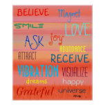 """""""LAW OF ATTRACTION"""" POSTER"""