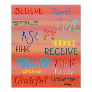 """LAW OF ATTRACTION"" POSTERS"