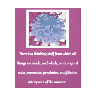Law of Attraction Quote - Dahlia Canvas Print