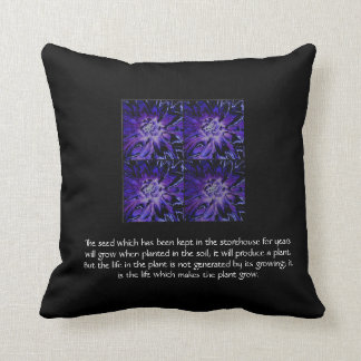 Law of Attraction Quote - Dahlia Throw Pillow