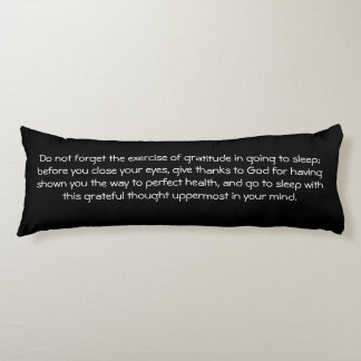 Law of Attraction Quote Gratitude - Dahlia Body Pillow