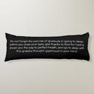 Law of Attraction Quote Gratitude - Dahlia Body Pillow