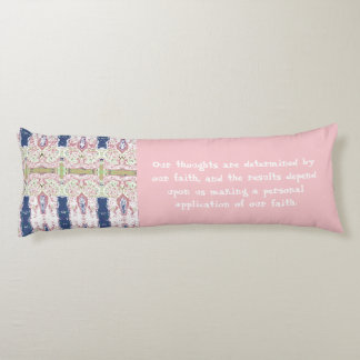 Law of Attraction Quote with Abstract Art Body Pillow