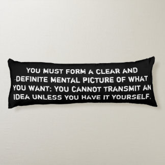 Law of Attraction Quote - Yin Yang Body Pillow