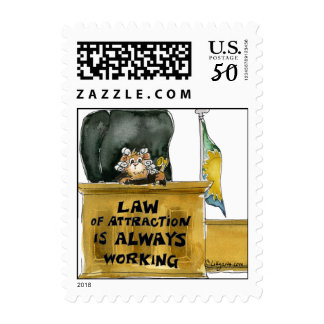 Law Of Attraction Small Square Postage Stamp
