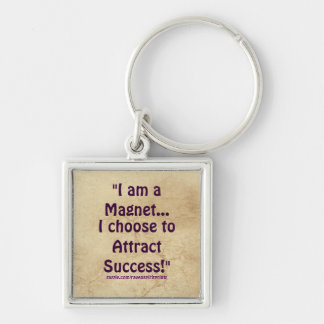 Law of Attraction Success Motivational Zipper Pull Keychain