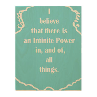 LAW OF ATTRACTION WOOD PRINT
