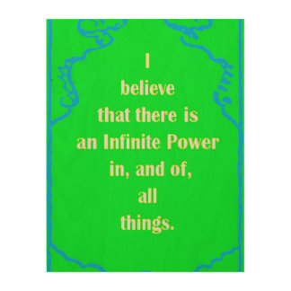 LAW OF ATTRACTION WOOD WALL ART