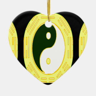 Law of Attraction - Yin Yang Ceramic Ornament