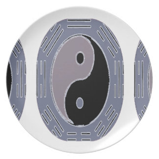 Law of Attraction Yin Yang Dinner Plate