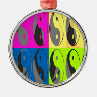 Law of Attraction - Yin Yang Metal Ornament
