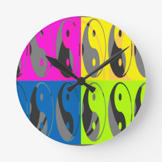 Law of Attraction - Yin Yang Round Clock