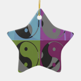 Law of Attraction - Ying Yang Ceramic Ornament