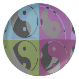 Law of Attraction - Ying Yang Dinner Plate