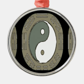 Law of Attraction - Ying Yang Metal Ornament
