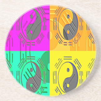 Law of Attraction - Ying Yang Sandstone Coaster