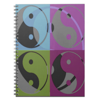 Law of Attraction - Ying Yang Spiral Notebook