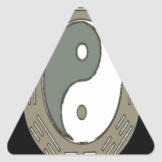 Law of Attraction - Ying Yang Triangle Sticker
