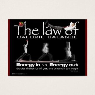 Law of Calorie Balance and Energy Business Card