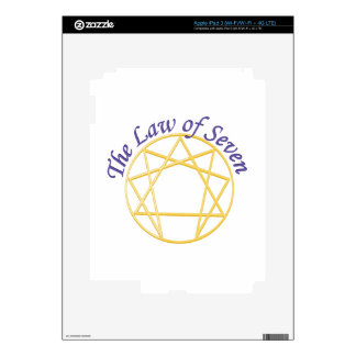 Law of Seven Decal For iPad 3