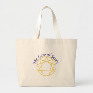 Law of Seven Large Tote Bag