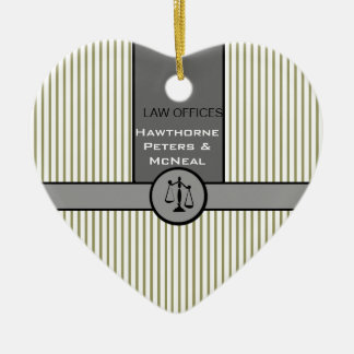 Law Office Attorney Justice Scale Custom Law Gifts Ceramic Ornament