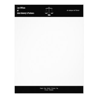 LAW OFFICES | Classy Black and White Letterhead