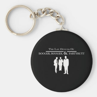 Law Offices of Booger Booger and Fartybutt Basic Round Button Keychain
