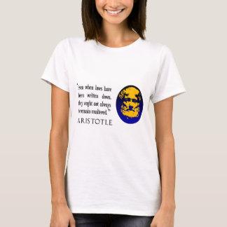 Law philosophy ladys white T shirt