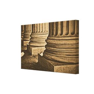 Law Pillars Retro Vintage Wrapped Canvas